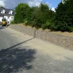 Gabionenmauer, ungewaschen